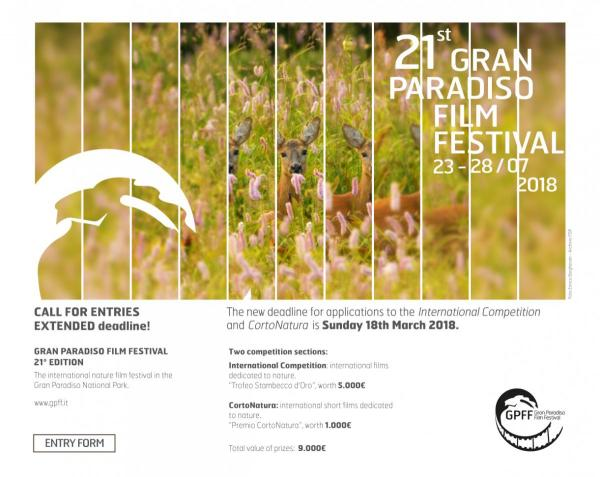 CALL FOR ENTRIES Gran Paradiso Film Festival 2018