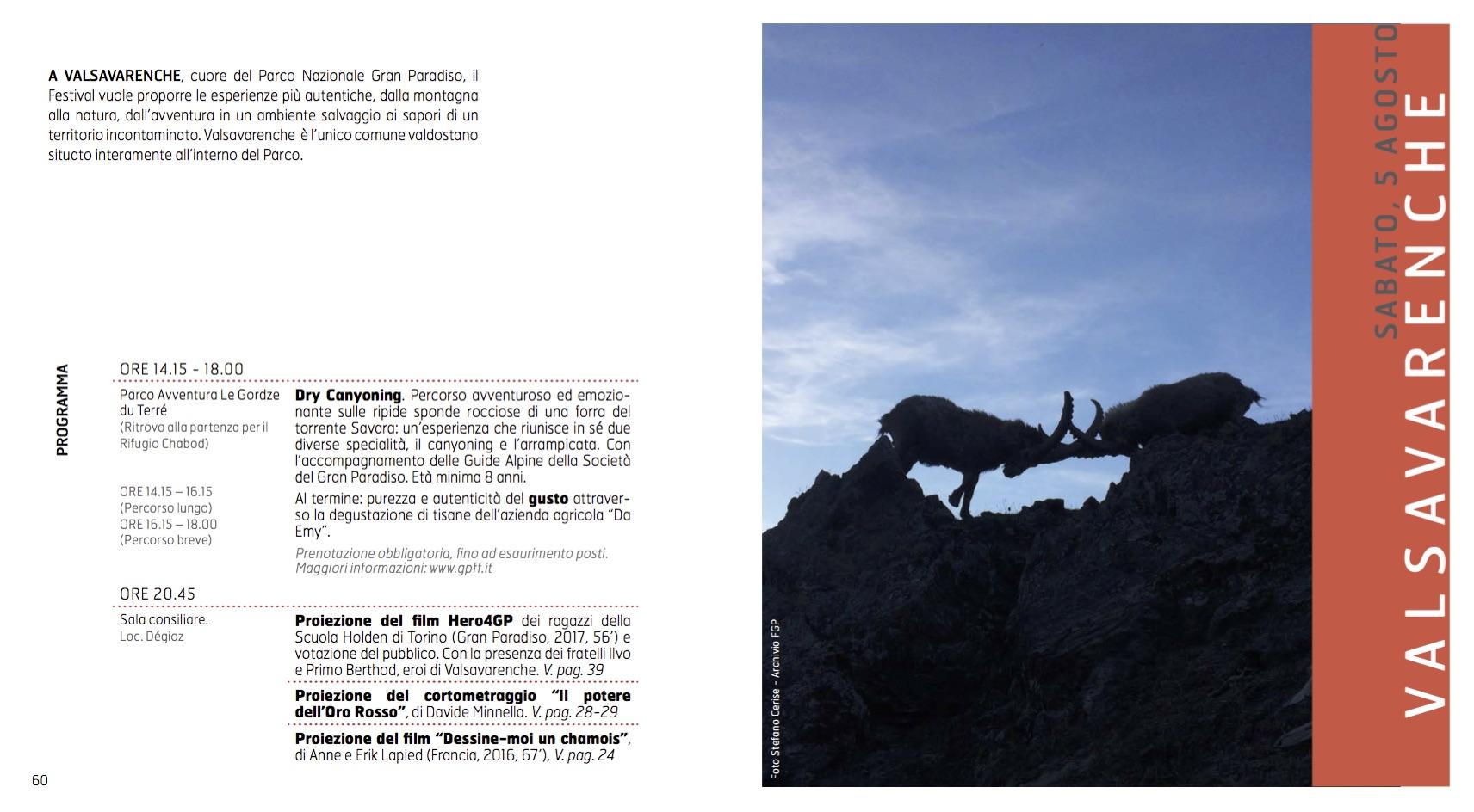 Programma Valsavaranche GPFF - edizione 20