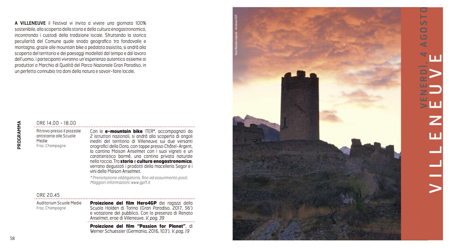 Programma Villeneuve GPFF - edizione 20