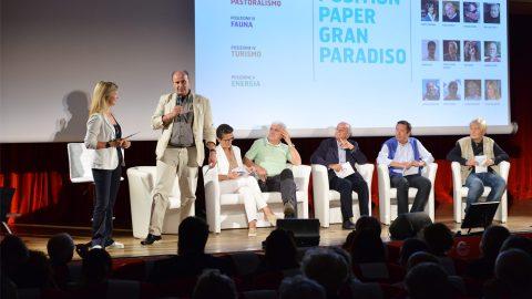 GPFF2018 cerimonia apertura position paper Elso Gerandin Luisa Vuillermoz Patrizia Morelli Italo Cerise Franco Allera Gabriele Caccialanza Grivola Cogne