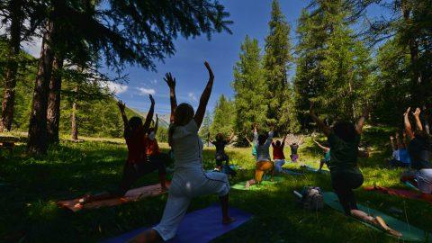 GPFF 2018 Yoga Cogne bosco Sylvenoire