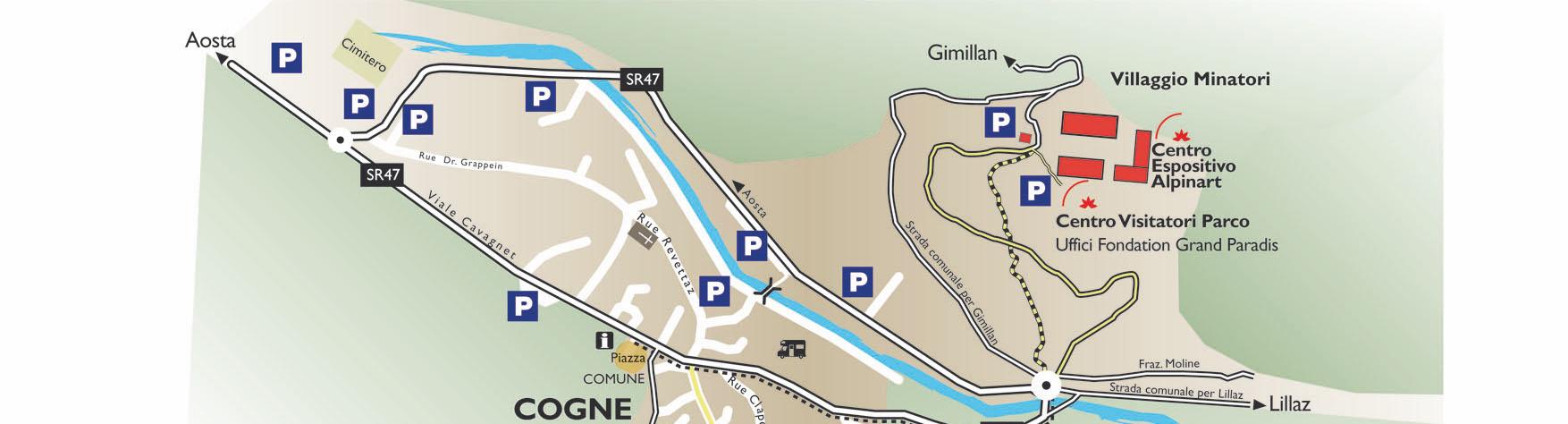 Cartina Cogne sede GPFF