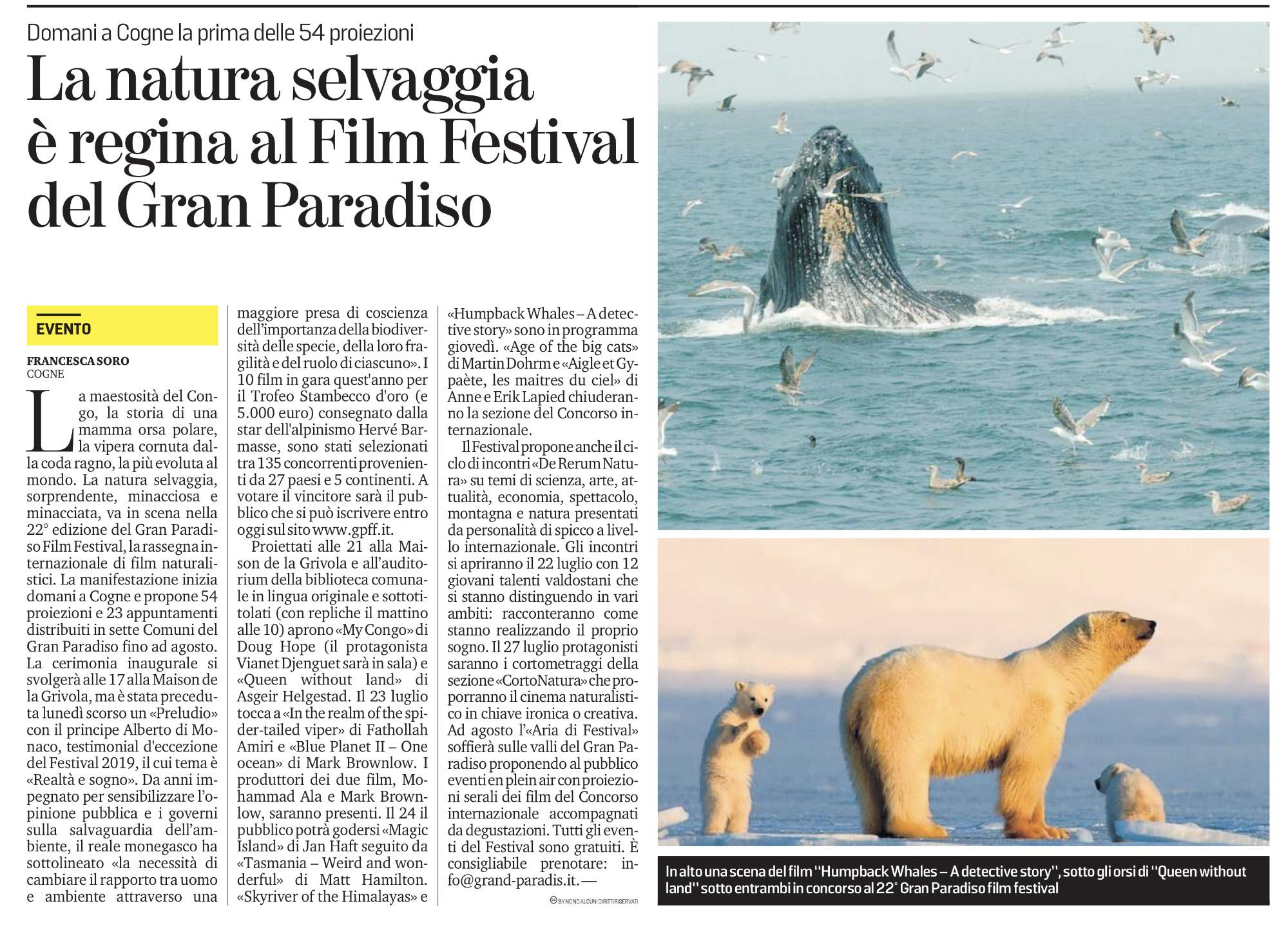 La natura selvaggia è regina al Film Festival del Gran Paradiso
