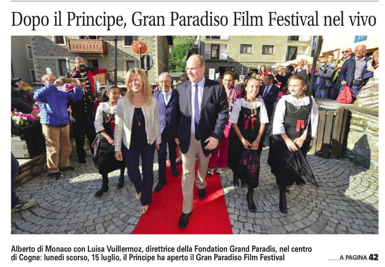 Dopo il Principe, Gran Paradiso Film Festival nel vivo
